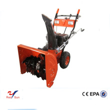 Hand gas powered sweeper/ snow plow for wheel loader